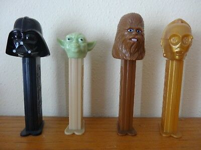 Lot of 4 Star Wars Pez Dispensers 90s era
