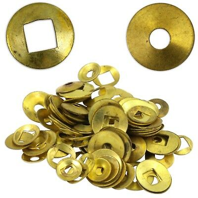 Brass Domed Clock Washers, Square & Round hole 200 washer mix Movement Repair