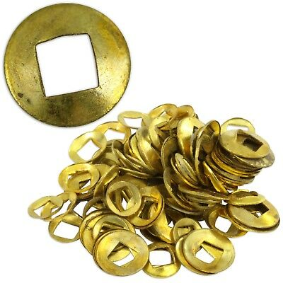 Brass Domed Clock Washers, Square hole 100 washer mix Clockmaker Movement Repair