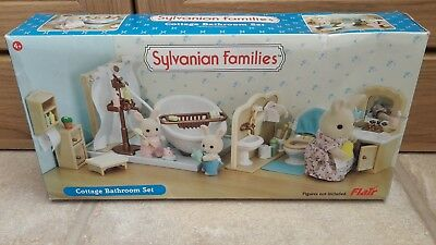 Sylvanian Families Cottage Bathroom Set Boxed