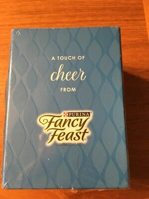 2017 Fancy Feast 'A Touch of Cheer' Porcelain Cat Ornament - New in package