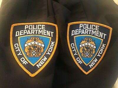 2 New York City Police NYPD Shoulder Patches - New