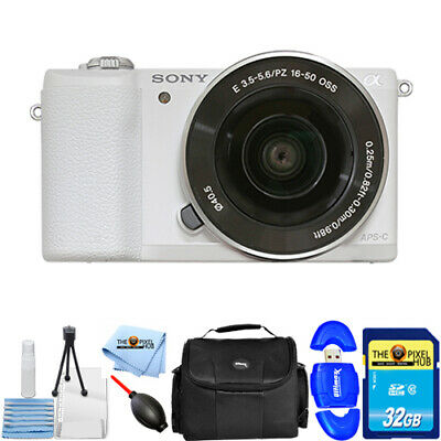 Sony Alpha a5100 Mirrorless Digital Camera with 16-50mm Lens In White KIT 1
