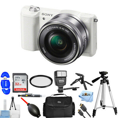 Sony Alpha a5100 Mirrorless Digital Camera with 16-50mm Lens In White KIT 2