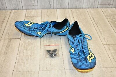 1c8643bf **SAUCONY BALLISTA SPIKE Running Shoes, Men's Size 12.5, Blue/Yellow NEW