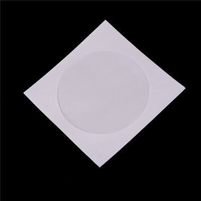 50pcs 12.5*12.5cm CD DVD Paper Flap Sleeves Clear Window Case Cover Envelope SU