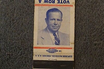 Vintage GOP Republican Nelson R Pirnie  Matchbook Cover Albany, NY