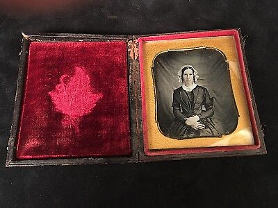 Early Daguerreotype Of Thin Woman, Likely Taken At Home By Itinerant