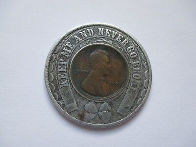 Scarce 1909 Dated Encased Penny - Colonial Trust Co.  Pittsburgh, Pa