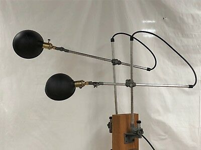 Pair of antique O C White wall mounted machinist's lamps