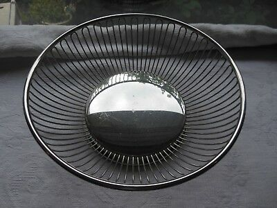 """Vintage Wmf Made In Italysilver Plated 8"""" Bread Basket"""