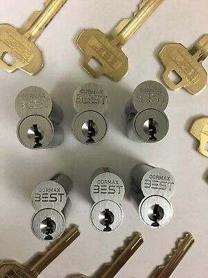 (6) Best Lock Cormax Cores, Control And Master Keys! Locksmith