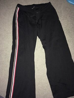 Next black maternity trousers with striped sides size 14R