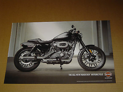 "2016 HARLEY DAVIDSON MOTORCYCLES ALL-NEW ROADSTER POSTER MINT! 11""x17"""
