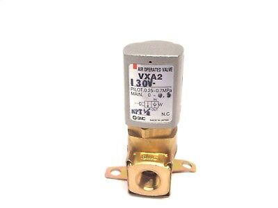 SMC VXA 2 130V Air Operated 2 Port Solenoid Valve .0.25~0.7MPa 0-~0.5 1/8 NPT