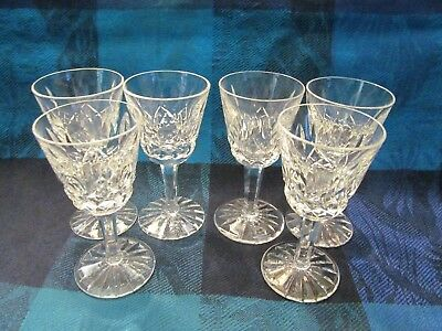 6 Waterford, Ireland, Lismore Pattern Signed, Liqueur Glasses - Vgc