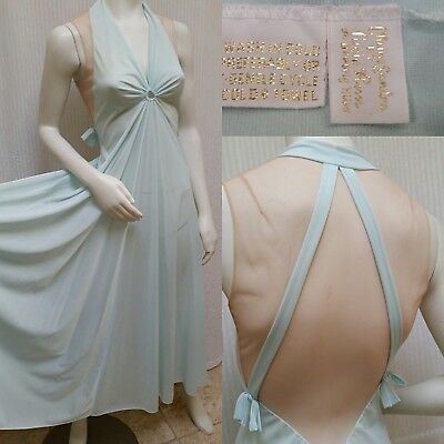 Vintage CLAIRE SANDRA LUCIE ANN Beverly Hills Lingerie Pale Aqua Nightgown  - S 33afd5f1f