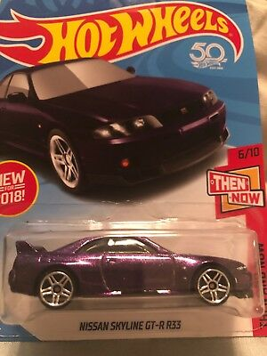 Nissan Skyline GTR R33 Hot Wheels (PURPLE) 1/64 Scale Diecast Car 1/64