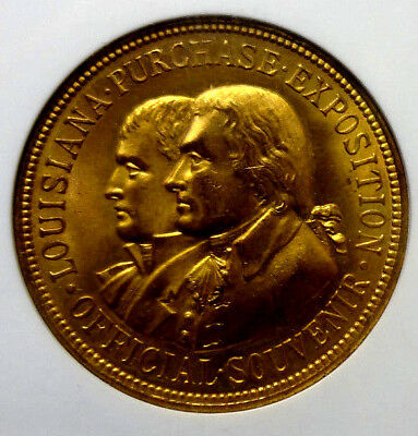 1904 Louisiana Purchase Exposition Medal NGC MS65