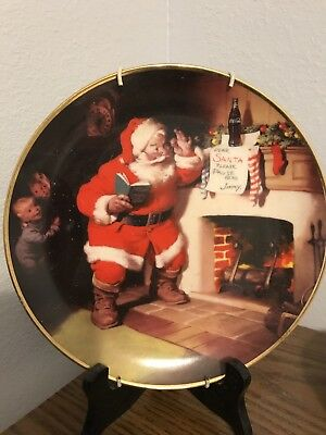 "Franklin Mint 1993 Coca Cola Santa Claus ""The Pause That Refreshes"" Plate"