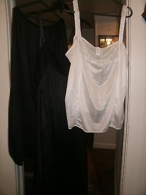 Lot Of 3 Plus Size Women's Full Slip, Half Slip & Camisole  Size 5X Used