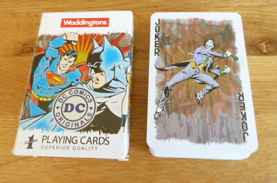Waddingtons Dc Comics Playing Card Pack Batman,superman,wonder Woman 2014