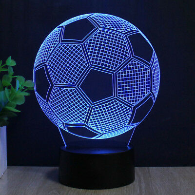 3D LED 7 Colors Football Night Light Bedroom Lamp Children Valentine Day Gift