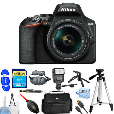 Nikon D3500 24.2MP DSLR Camera with 18-55mm VR Lens #1590 PRO BUNDLE BRAND NEW