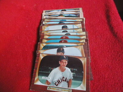 1955 Bowman Baseball Cards Lot of (15 Total 12 Different) Mid to Lower Grade