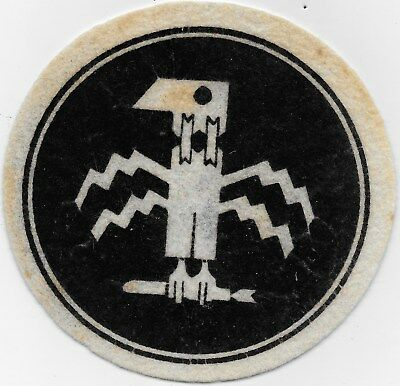 """Ex/rare Original Wwii """"385Th Bomb Squadron"""" Patch -Embroidered On Wool"""