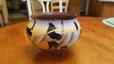 Westcote Bell Pottery Cats Bowl
