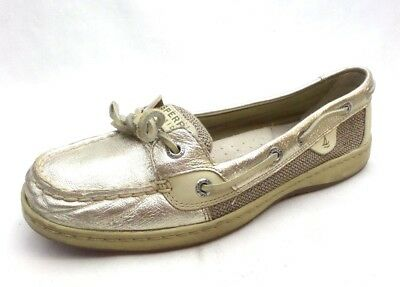 e6a486514a59 Sperry Top Sider Angelfish Gold Leather Boat Shoes 9102187 Women's 8 M