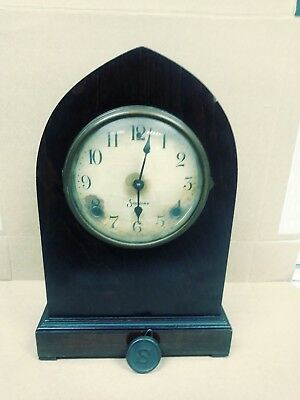 Antique Sessions Cathedral 8 Day Mantle Clock
