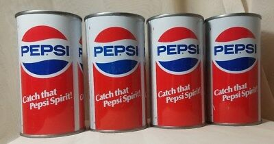 """PEPSI-COLA can 12oz """"Catch that Pepsi Spirit"""" straight side steel bank-top"""