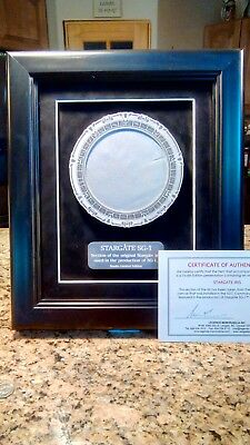 Stargate Sg-1 Iris plaque with a real piece of the stargate certificate prop