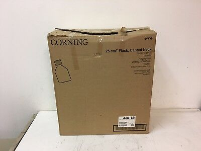 Lot of 500 NEW Corning 25cm² Rectangular Canted Neck Cell Culture Flask 430168