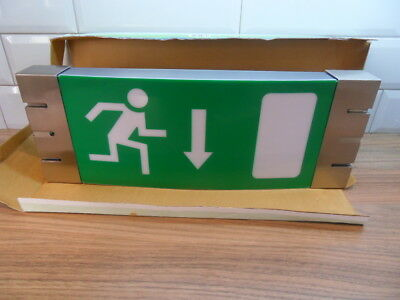 Emergency Maintained Light Exit Box Sign Superb Quality Free Postage
