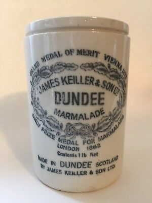 Vintage Dundee Orange Marmalade Jar Crock James Keiller And Sons 1962 Medal