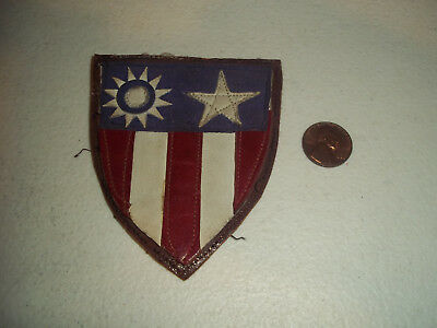 Wwii Ww2 Us Army Air Force Cbi China Burma India Leather Patch
