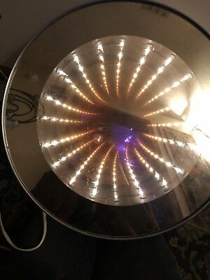 Infinity Mirror Vintage Mid Century Modern Sound Activated Disco Light See Pics!