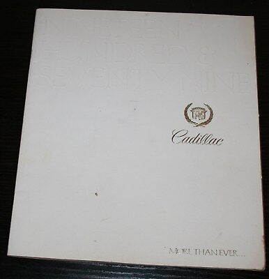 1979 Cadillac Full line Sales Brochure, 32 Pages