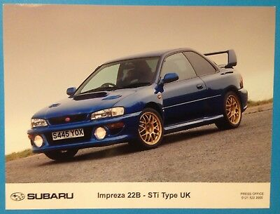 Subaru Impreza 22B - STi Type UK official Subaru press photo