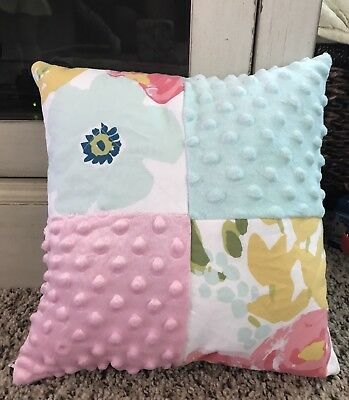 Cloud Island Floral ~nursery Pillow Pink And Blue