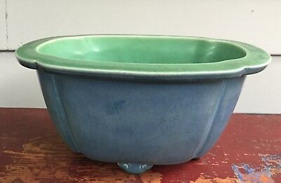 1926 Vintage Rookwood Blue Bowl Planter American Art Pottery