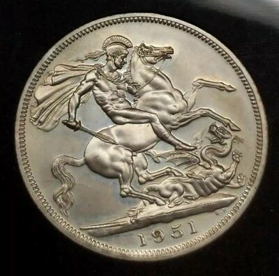 1951 Great Britain 5 Shilling Proof Like Coin