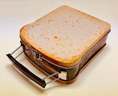 Tin Sandwich Box - Fun, Novelty, Hinged Metal Lunchbox