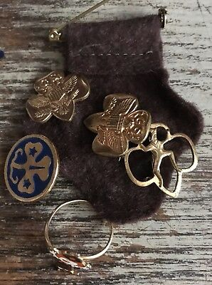Vintage Girl Scout/Brownie Pin & Ring Lot!