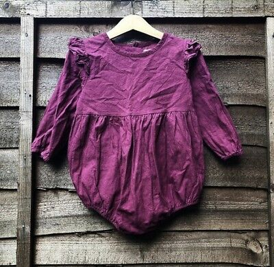 Girls Romper Playsuit Linen Age 2 Years