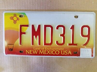 New Mexico LAND OF ENCHANTMENT license plate preowned expired hot Airballoon...