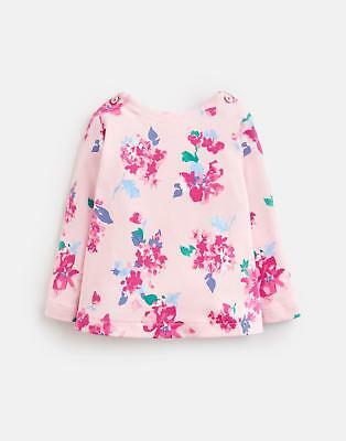 Joules 124950 Babygirls Harbour Top in PINK FLORAL